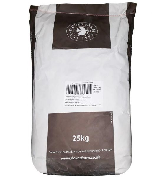 Doves Organic Wholemeal Rye Flour - loose